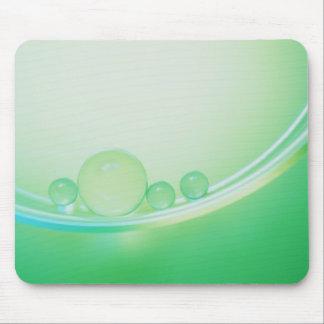 Burbujas verdes alfombrillas de raton