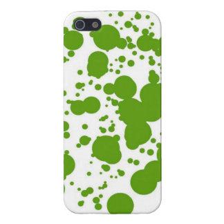 Burbujas verdes iPhone 5 fundas