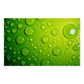 Burbujas verdes poster