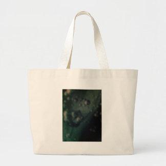 Burbujas verdes suaves en final metálico natural bolsa lienzo