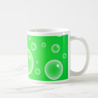 Burbujas verdes tazas de café