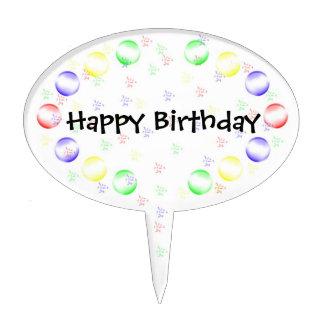 Burbujas y confeti decoraciones para tartas