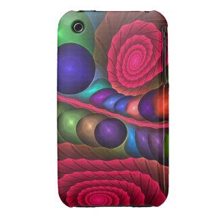 Burbujas y espirales lindos, caso abstracto del iPhone 3 fundas