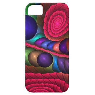 Burbujas y espirales lindos, caso abstracto del iPhone 5 fundas