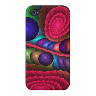 Burbujas y espirales lindos caso abstracto del iP iPhone 4 Cobertura