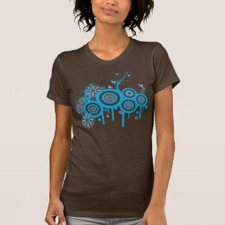 Burbujas y flores retras maravillosas camisetas