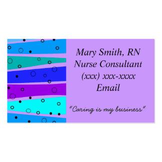 Burbujas y ondas médicas de las tarjetas de visita
