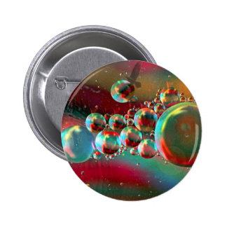 Burbujas y planetas abstractos del cuervo pin