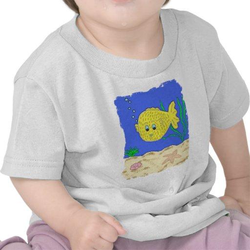 Burbujea el Blowfish Camiseta