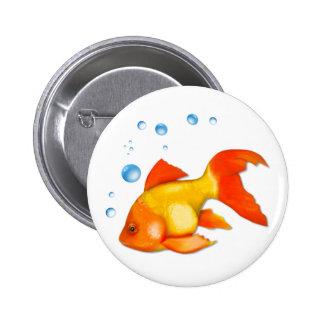 Burbujea el Goldfish Pin
