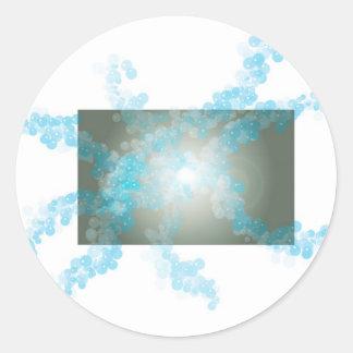 burbujeante pegatina redonda