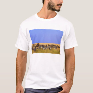 Burchell's Zebras and Wildebeest in tall T-Shirt