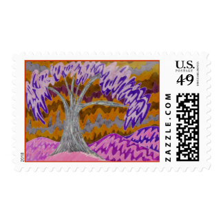 Burchfield Style Tree inverted Postage