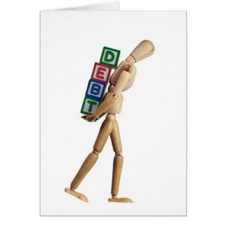 Burdened with debt card
