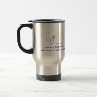 burdens to the cross travel mug