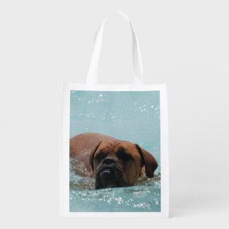 Burdeos de la natación bolsas de la compra
