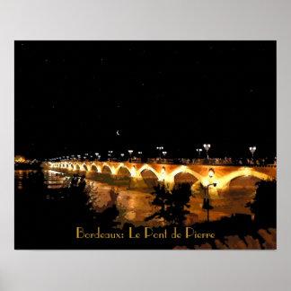 """Burdeos del poster """": Le Pont de Pedro"""" 20"""" x16 """""""
