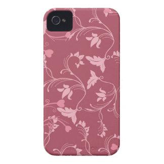 Burdeos floral carcasa para iPhone 4 de Case-Mate