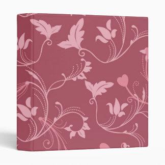 """Burdeos floral carpeta 1"""""""