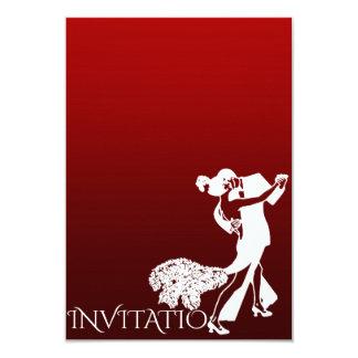 """Burdeos personalizado danza clásica Ombre del Invitación 3.5"""" X 5"""""""