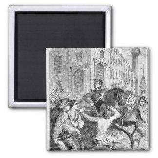 Burdett Riot, 1810 2 Inch Square Magnet
