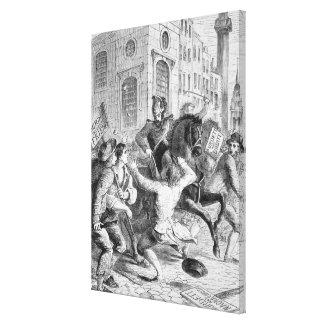 Burdett Riot, 1810 Stretched Canvas Print