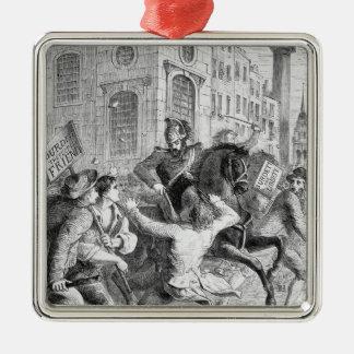 Burdett Riot, 1810 Metal Ornament