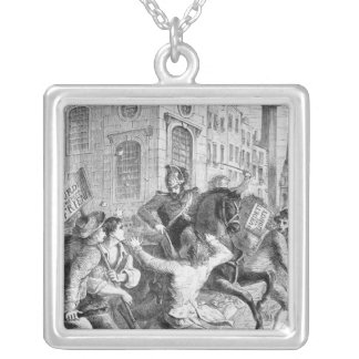 Burdett Riot, 1810 Square Pendant Necklace
