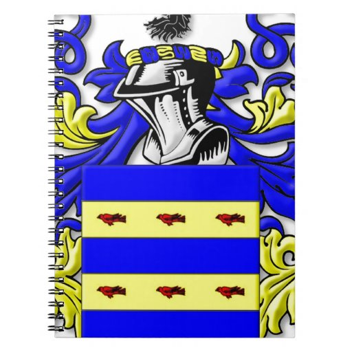 Burdette Coat of Arms Notebook