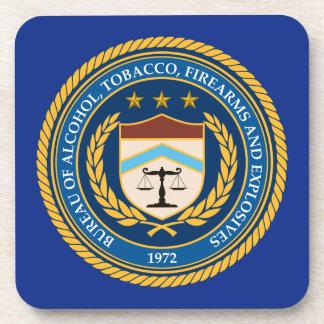 Bureau of Alcohol Tobacco Firearms Drink Coaster
