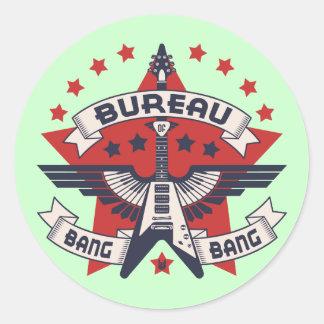 Bureau of Bang Bang Classic Round Sticker