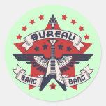 Bureau of Bang Bang Round Stickers