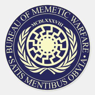 Bureau of Memetic Warfare Classic Round Sticker