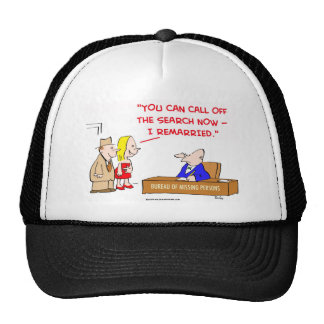 bureau of missing persons remarried trucker hat
