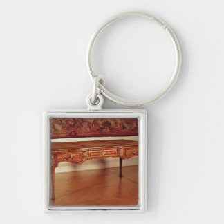Bureau plat, French, Cressent, 1730 Silver-Colored Square Keychain