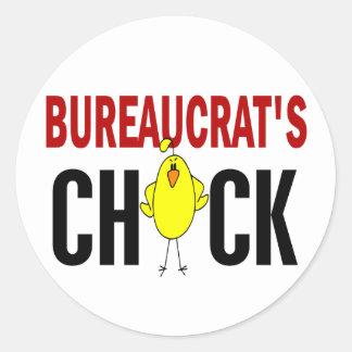 BUREAUCRAT'S CHICK CLASSIC ROUND STICKER