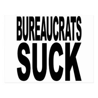 Bureaucrats Suck Postcard