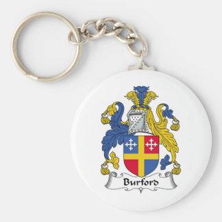 Burford Family Crest Basic Round Button Keychain