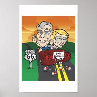 Burford retirement cartoon poster