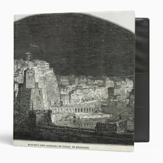 Burford's New Panorama of Naples by Moonlight 3 Ring Binders