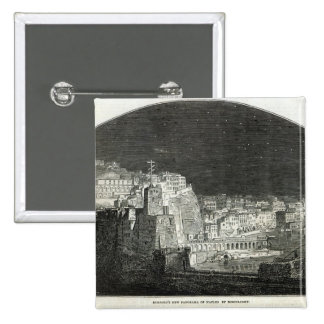Burford's New Panorama of Naples by Moonlight 2 Inch Square Button