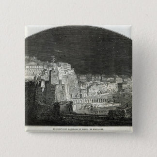 Burford's New Panorama of Naples by Moonlight Pinback Button