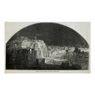 Burford's New Panorama of Naples by Moonlight Poster