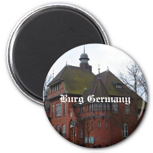 Burg Alemania - Rathaus Imán De Frigorífico