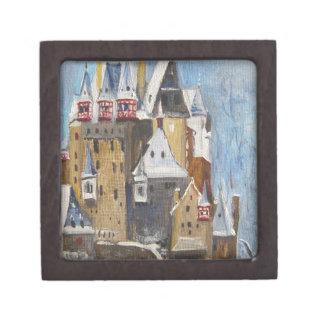 Burg Eltz oil painting Keepsake Box