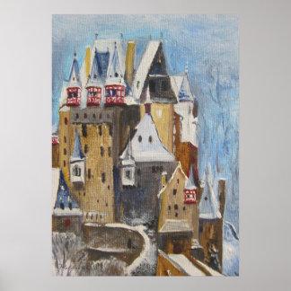 Burg Eltz oil painting Poster