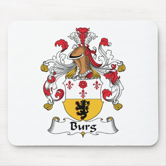 Burg Family Crest Mouse Pad
