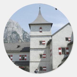 Burg Hohenwerfen Pegatina Redonda