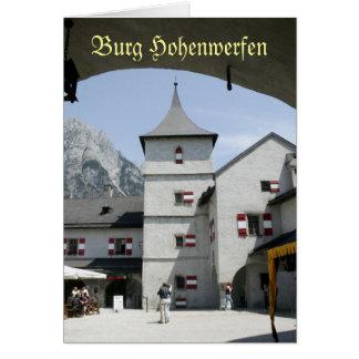 Burg Hohenwerfen Tarjeta De Felicitación