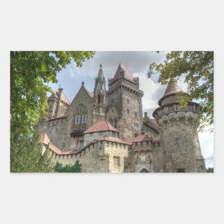 Burg Kreuzenstein Pegatina Rectangular